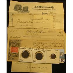 "1899 Check and Returned Check claim by ""Critchett McCormick"" (think Cyrus McCormick Reaper), magenta"