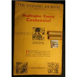 "July, 1936 ""The Evening Journal Washington County Centennial 1836 1936 Centennial Celebration June 2"