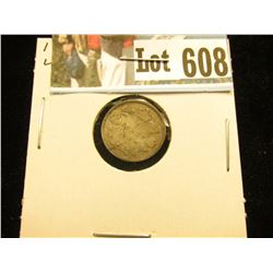 1900 Large Date Canada Five Cent Silver, G.