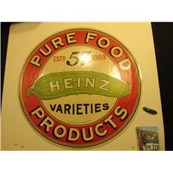 "Pickel Barrel Top Label, excellent condition ""Pure Food Estd. 57 1869 HEINZ Varieties Products"", 'Do"