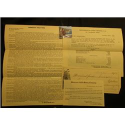 """Minnesota Gold Mine St. Charles, Minnesota"" letter explaining value and expected returns of mining"