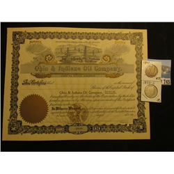 "Unissued Stock Certificate ""Ohio & Indiana Oil Company"" Incorporated under the Laws of Arizona, gold"