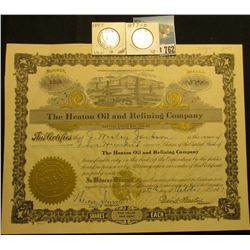 "500 Shares of 1917 Capital Stock ""The Heaton Oil and Refining Company…Laws of Wyoming…"", embossed go"