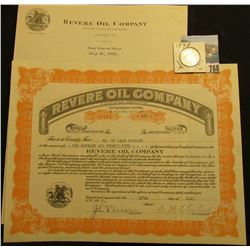"1922 dated letter from ""Revere Oil Company…Fort Worth, Texas""; 125 Shares of Capital Stock in ""Rever"