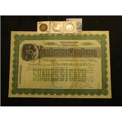 "1000 Shares of 1938 Capital Stock of ""Yankee Consolidated Mining Company…Mines at Eureka Tinlic Mini"