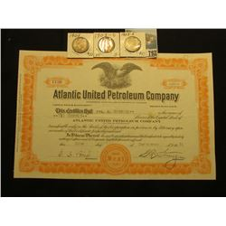 "200 Shares of 1931 Capital Stock ""Atlantic United Petroleum Company…State of Colorado"", vignette of"