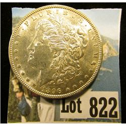 1896 P U.S. Morgan Silver Dollar, Brilliant Uncirculated.