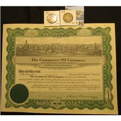"1000 Shares of 1917 Capital Stock ""The Commerce Oil Company incorporated under the laws of Colorado"""