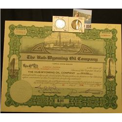 "1000 Shares of 1919 Capital Stock ""The Hub-Wyoming Oil Company…the State of Colorado"" valued at .01c"