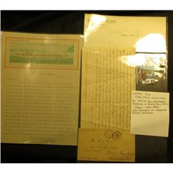 "Hotel Seward Stationery early 1900 letter written while on board the boat ""Mariposa"" off the coast o"