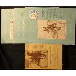 "Group of Equestrian Material, including an advertising envelope for ""The U.S. Trotting Assoication"";"