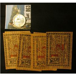 "(7) 1915 era Scrip ""Duke's Mixture Smoking Tobacco Half Coupon""; & 1918 D Standing Liberty Quarter,"