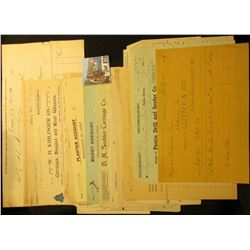 "Group of (20) Old ""Buggy"" related Invoices from the late 1890s to early 1900's."