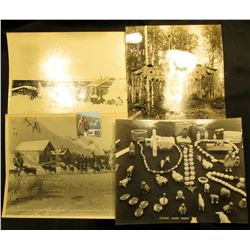"(3) different Basil Clemon's8"" x 10"" black & white photos from Alaska: ""Lenard Seppla Winner 1916 Ru"