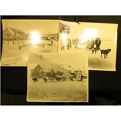 "(3) different Basil Clemon's 8"" x 10"" black & white photos from Alaska: ""Charlie Frisco Winner 2 in"