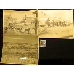 "(3) different Basil Clemon's8"" x 10"" black & white photos from Alaska: ""Long City, Ruby Dist. Alaska"