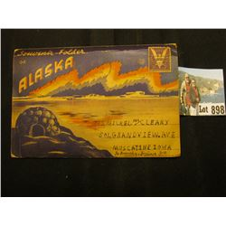 "World War II era ""Souvenir Folder of Alaska"" with Victory 3c Stamp and War Fund Post Mark. Part of R"