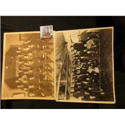 "Pair of Basil Clemon's Black & White Photos 8"" x 10"": ""Hard-Times Ball"". Given by Poorman Branch of"