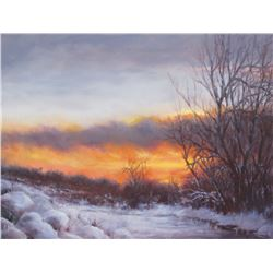 """Winter Sunset"" by Teresa Adaszynska"