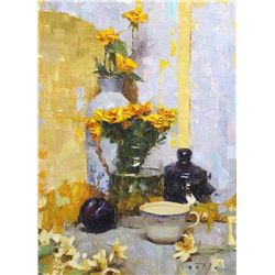 Arrangement in Blue and Yellow  by Brian Astle