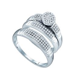 0.33CT Diamond Trio Set 10KT Ring White Gold