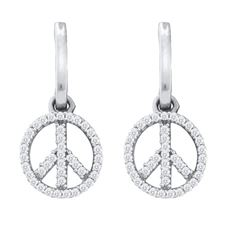 0.25CT Diamond Anniversary 10KT Earrings White Gold
