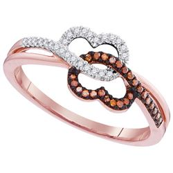 0.15CT Diamond Heart 10KT Ring Rose Gold