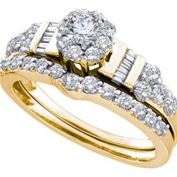 1CT Diamond Bridal 14KT Ring Yellow Gold