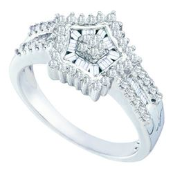 0.50CT Diamond Anniversary 10KT Ring White Gold