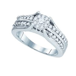 0.60CT Diamond Soli-Star 14KT Ring White Gold