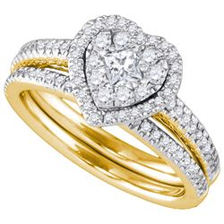0.75CT Diamond Monaco 14KT Ring Yellow Gold