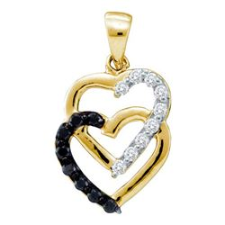 0.35CT Diamond Heart 14KT Pendant Yellow Gold