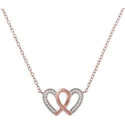 0.10CT Diamond Heart 10KT Necklace Rose Gold
