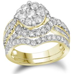2.50CT Diamond Anniversary 14KT Ring Yellow Gold