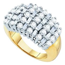 2CT Diamond Cluster 10KT Ring Yellow Gold