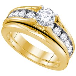 1.50CT Diamond Bridal 14KT Ring Yellow Gold