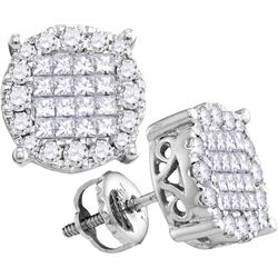 1.0CT Diamond Soleil 14KT Earrings White Gold