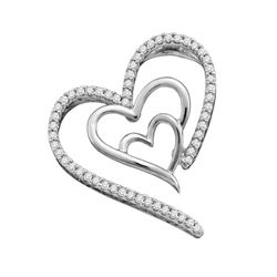 0.15CT Diamond Heart 10KT Pendant Yellow Gold