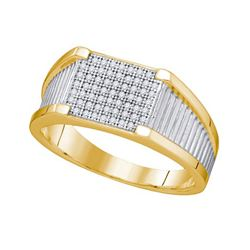 0.20CT Diamond Mens 10KT Ring Yellow Gold