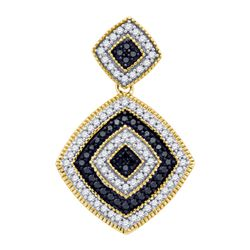 0.35CT Diamond Micro-Pave 10KT Pendant Yellow Gold