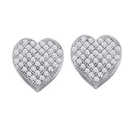 0.10CT Diamond Heart 10KT Earrings White Gold