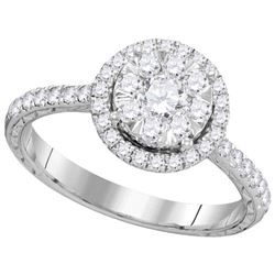 0.85CT Diamond Anniversary 14KT Ring White Gold