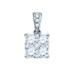 0.15CT Diamond Larissa 18KT Pendant White Gold