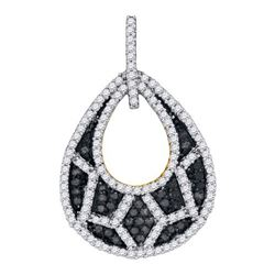 0.75CT Diamond Micro-Pave 10KT Pendant Yellow Gold