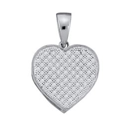 0.05CT Diamond Heart 10KT Pendant White Gold