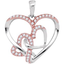 0.25CT Diamond Heart 10KT Pendant White Gold