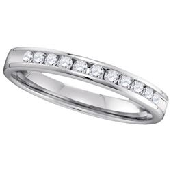 0.25CT Diamond Machine-Set 14KT Ring White Gold
