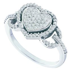 0.33CT Diamond Heart 10KT Ring White Gold