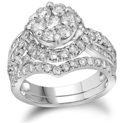 2.50CT Diamond Anniversary 14KT Ring White Gold