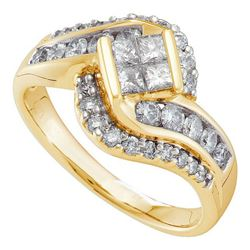 1CT Diamond Invisible 14KT Ring Yellow Gold